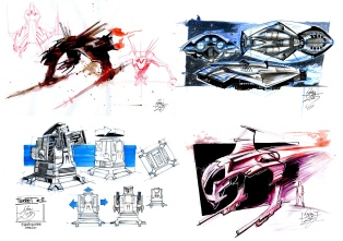 Conception sketches