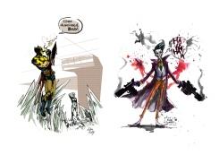 Wolverine, the Joker (fan art)