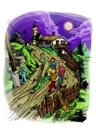 A lámpásember - childrens book illustration