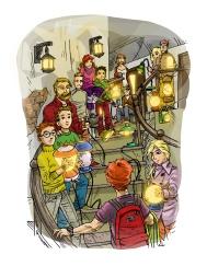 A lámpásember - könyvillusztráció